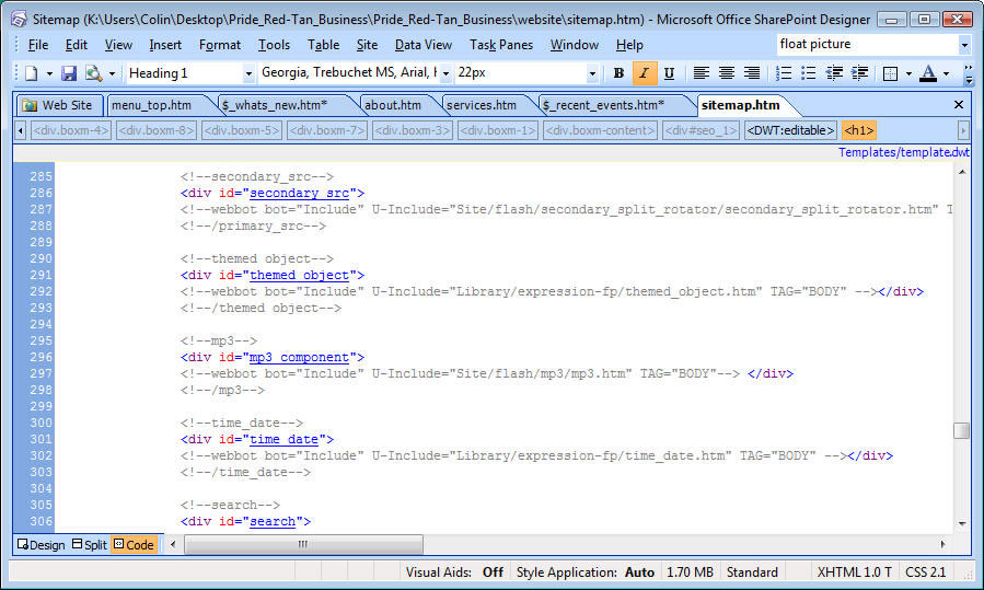 Lessons Ch10  pages in Microsoft – removing components from