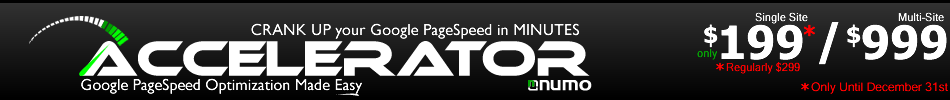 Accelerator -- Google PageSpeed Optimization Made Easy