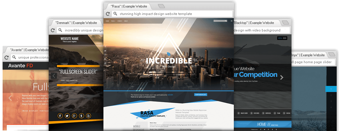 Responsive Premium WordPress Themes Website Templates - Professional website templates