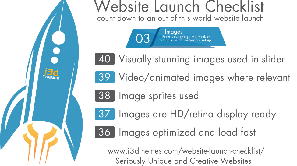 website launch checklist week 3