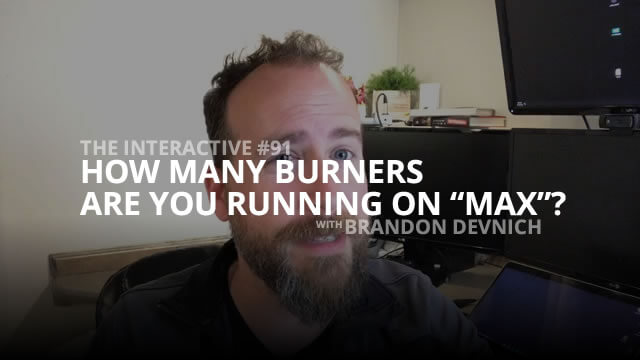 How Many Burners Are You Running On Max