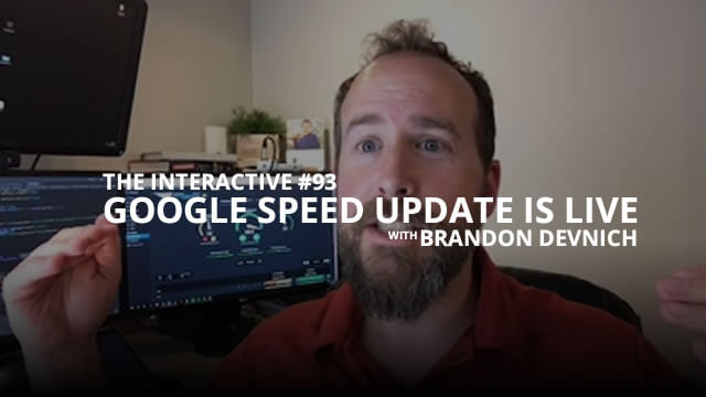Google Speed Update is LIVE - Interactive #93